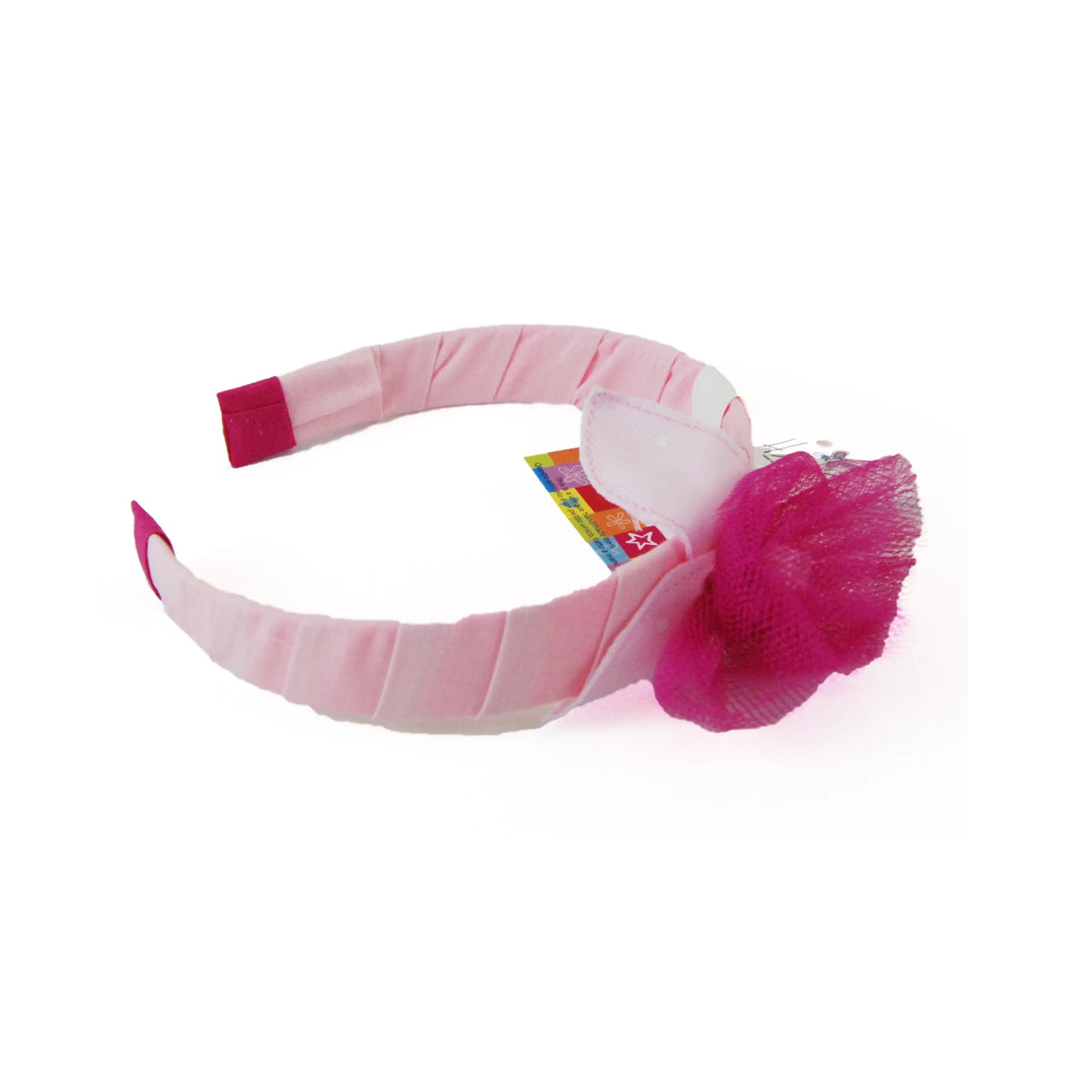 Pink Tulle Flower Headband - Rooms for Rascals