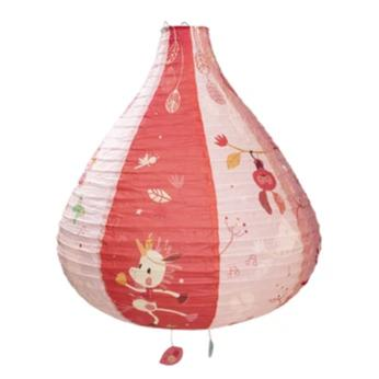 Paper Lantern Lampshade Pink - Rooms for Rascals