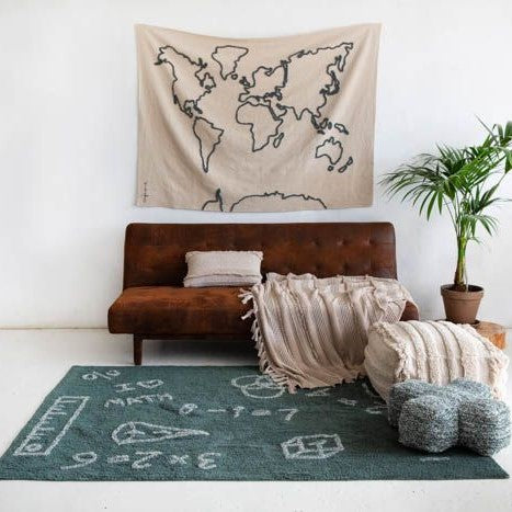 World Map Wall Hanging - Rooms for Rascals, a Leafy Lanes Retailers Ltd business