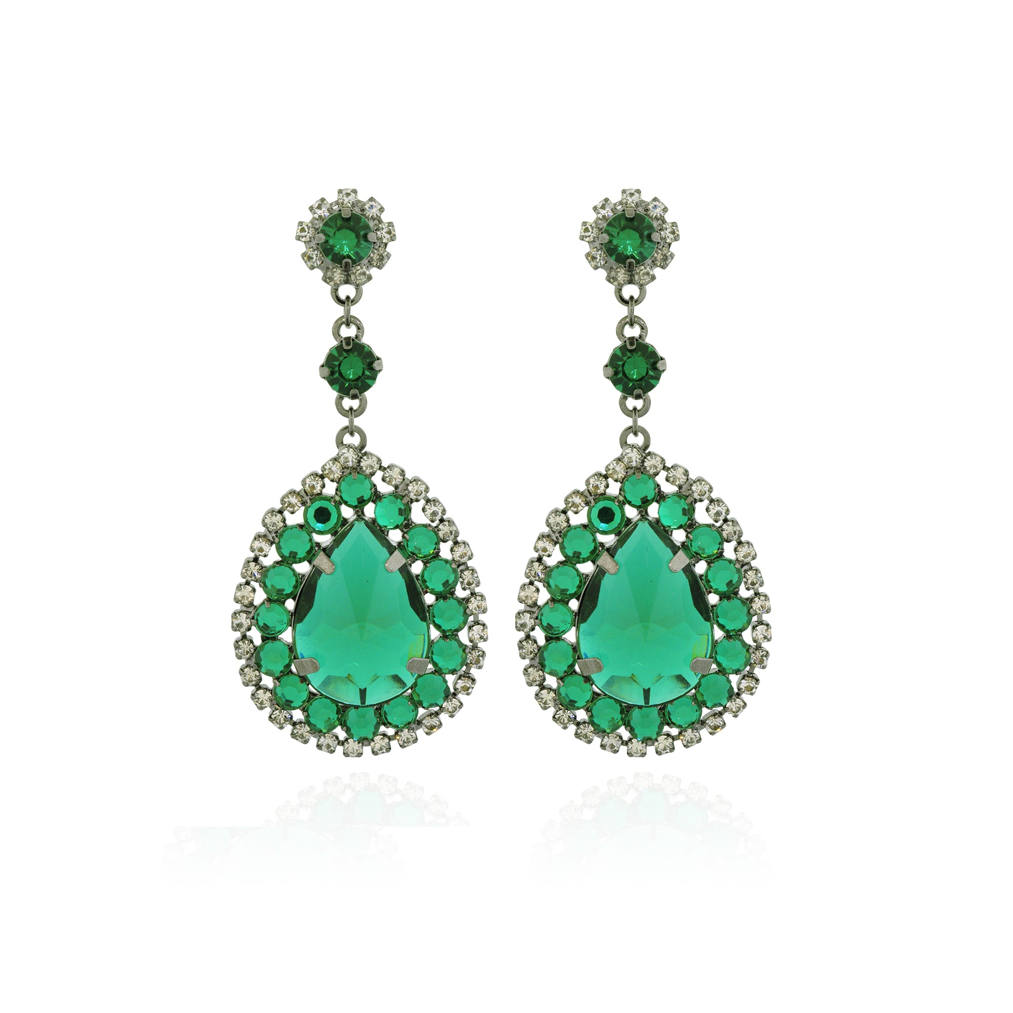 geo fine uk drop stone la emerald ebng designer jewellery diamond by barragan earrings slice london