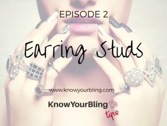 Episode 2: How To Clean Your Jewelry Video Showing Different Types of Stud Earrings