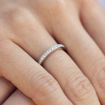 Eternity Ring with Micropave setting with Milgrain
