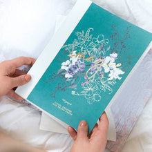 Load image into Gallery viewer, cloth bound notebook - jewel flower