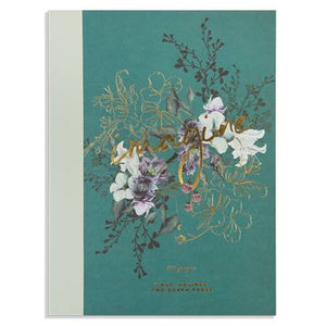 cloth bound notebook - jewel flower