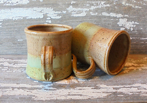 B Robertson Pottery - Cozy Color Blend Mug - Caramel & Seagrass