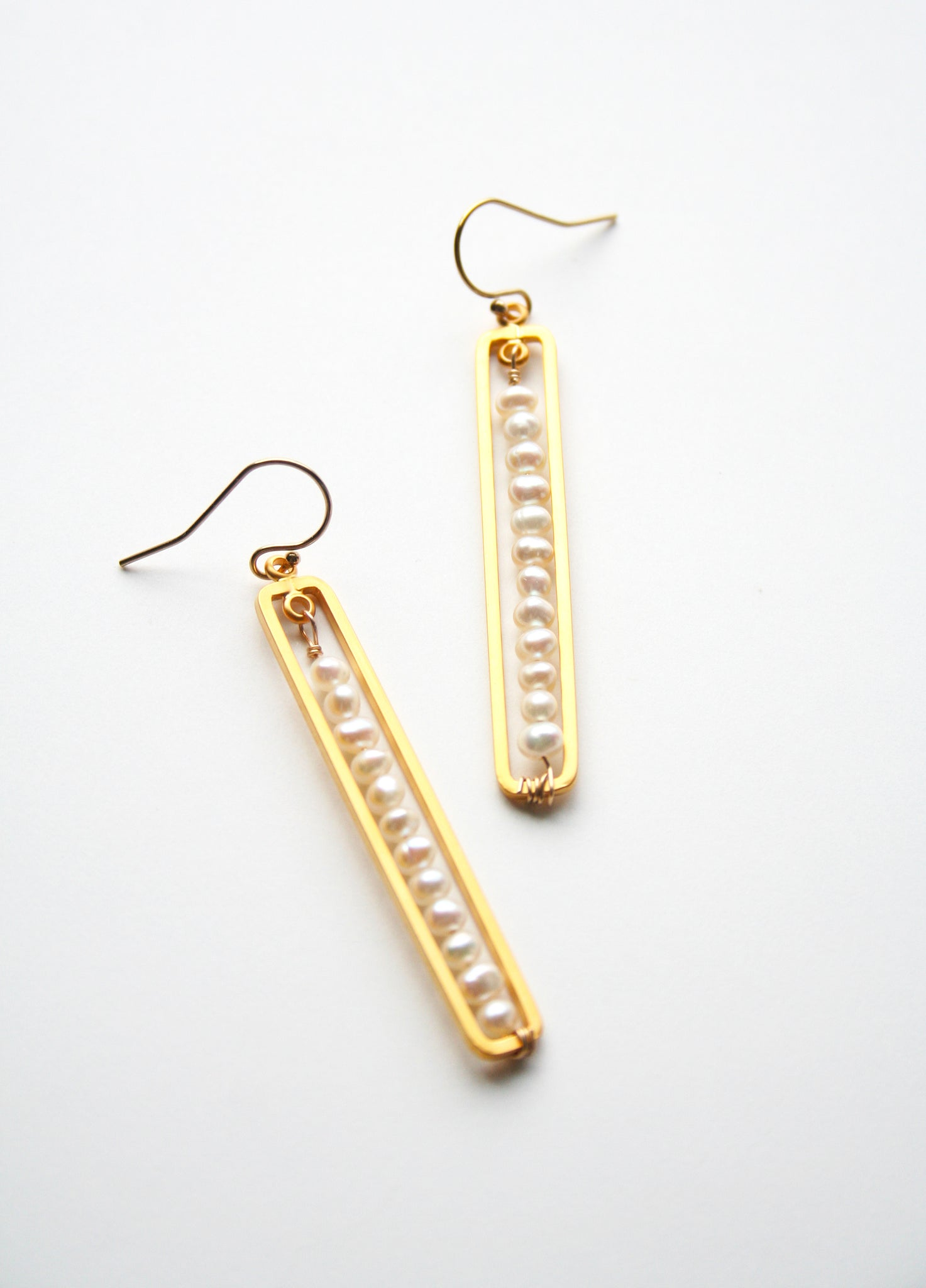Laura Stark Designs - Pearl Bar Earrings
