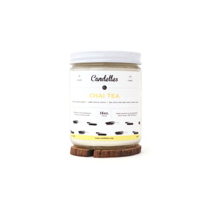 Candelles Candles - Chai Tea Scented Soy Candle - 16oz.