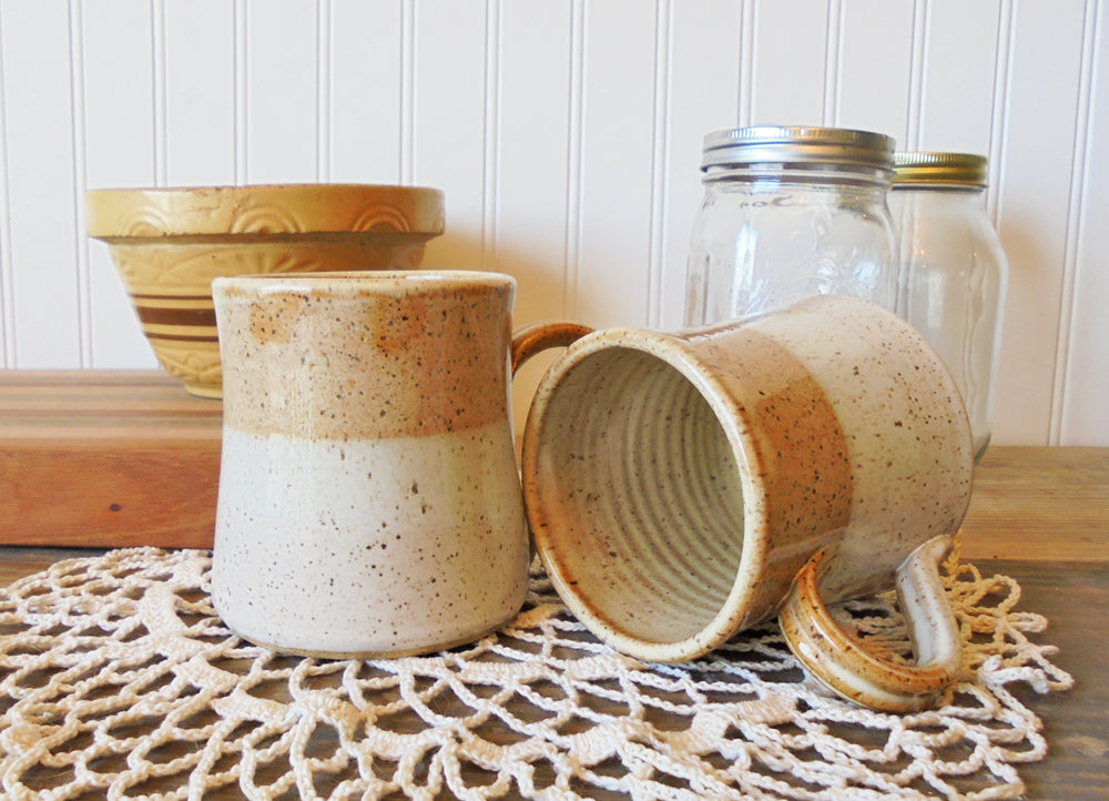 B Robertson Pottery - Cozy Color Blend Mugs - Caramel & Vanilla