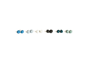 Jenna Vanden Brink Ceramics - Faceted Stud Earrings