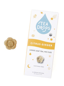 Tea Drops compostable box, 10 ct - Citrus Ginger