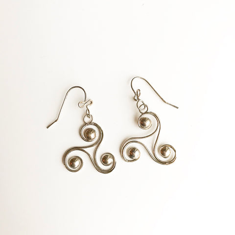 Leigh Lynn earrings - sterling triskele