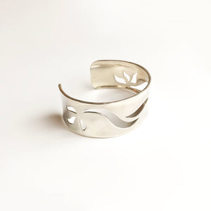 Leigh Lynn cuff - reinforced, forged, carved sterling