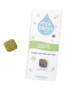 Tea Drops compostable box, 10 ct - Matcha Green Tea