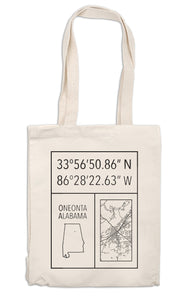 100% Cotton Canvas Tote - Oneonta, Alabama