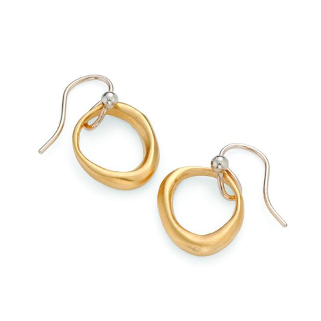 Philippa Roberts organic circle earrings in vermeil