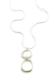 Philippa Roberts organic circles necklace in sterling silver