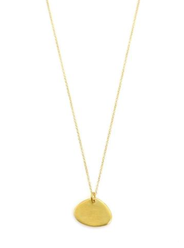 Philippa Roberts flat drop vermeil necklace