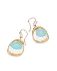 Philippa Roberts open circle chalcedony earrings in vermeil