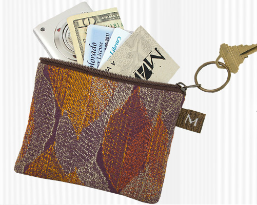 Maruca Design coin purse - Warped Floral Cool