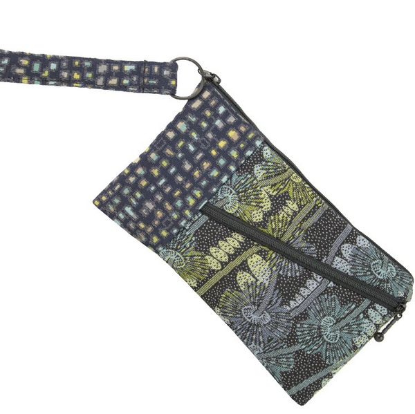 Maruca Design Beetle Wristlet - Warped Floral Cool