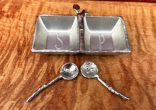 Load image into Gallery viewer, Salt & Pepper Tray with Twig Spoons