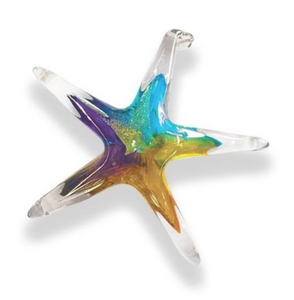 Hand Blown Glass Star - 3.5 inch