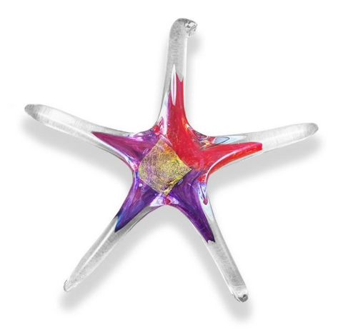 Hand Blown Glass Star - 5 inch