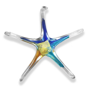 Hand Blown Glass Star - 7 inch