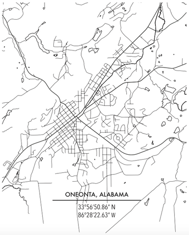 City Map - Oneonta, Alabama