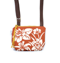 Load image into Gallery viewer, Rachel Elise date purse - terra cotta carolina floral