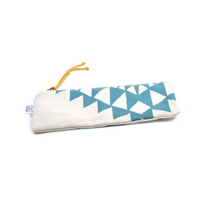 Rachel Elise pencil case - aqua bowtie
