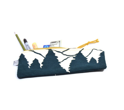 Rachel Elise pencil case - peacock vista