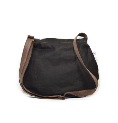 Rachel Elise satchel - black bowtie + eclipse waxed
