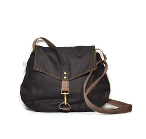 Rachel Elise satchel - eclipse waxed canvas