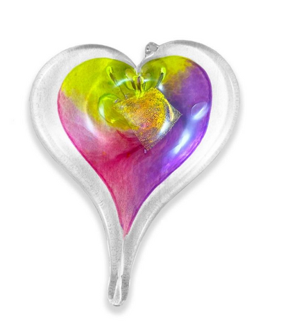 Hand Blown Glass Heart - 5 inch