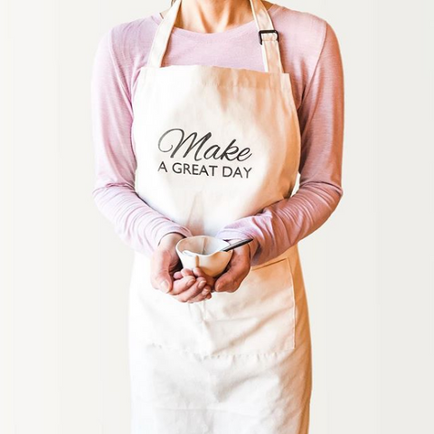 """Make a great day"" canvas apron"