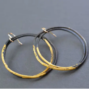 steel and gold heavy gauge hoops