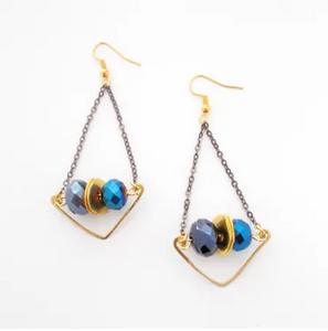 Rainstorm earrings in blue
