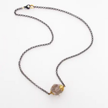 Load image into Gallery viewer, Gray rock necklace