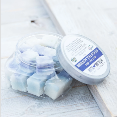 goat milk sugar cube scrubs - beneath the stars