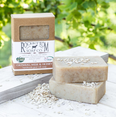 oatmeal goat milk soap, 5 oz.