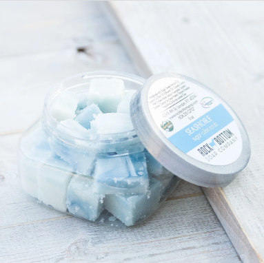 goat milk sugar cube scrubs - seashore