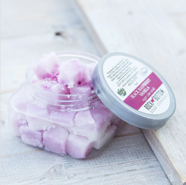 goat milk sugar cube scrubs - black raspberry vanilla