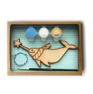 DIY narwhal ornament kit