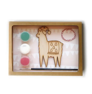 DIY llama ornament kit