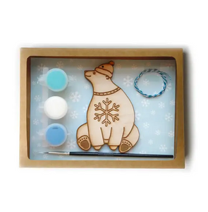 DIY polar bear ornament kit