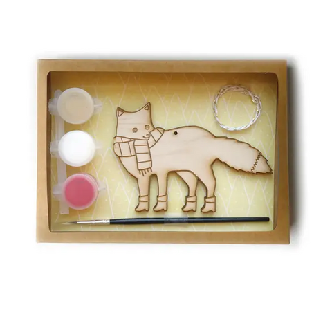 DIY fox ornament kit