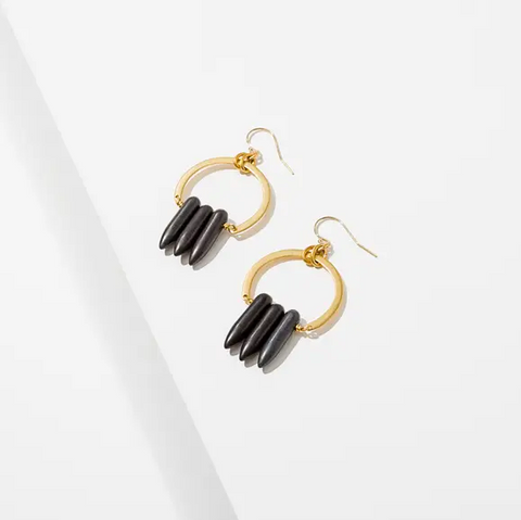 atum earrings - black