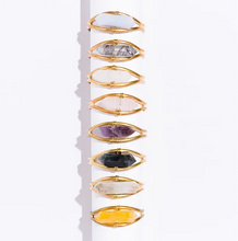 Load image into Gallery viewer, crystal cuff bracelet - quartz
