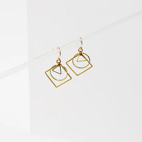 tri shape earrings
